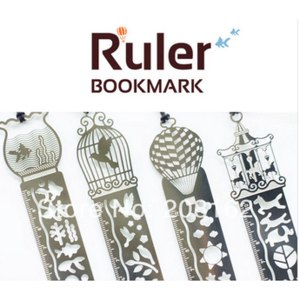 Закладка AliExpress Ruler Bookmarks Birds Fish Hot Air Balloon Carousels Multifunction Metal Rulers With Lanyard Creative Stationery Wedding Favors фото