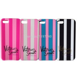 Чехол для мобильного телефона Aliexpress Victoria's Secret PINK Brand New Color Luxe Soft rubber Stripe silicone Case Cover For Apple Iphone 4 4s 4g/5 5s 5g 7 Colors!! фото