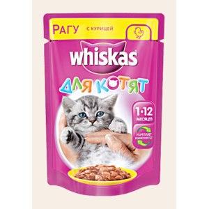 """Консервы Whiskas для котят """"Рагу с курицей"""" фото"""
