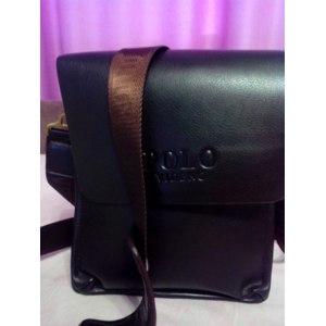 Мужская сумка через плечо Aliexpress free shipping new 2014 hot sale men bags, men genuine leather messenger bag, high quality polo bag fashion men's travel bags фото