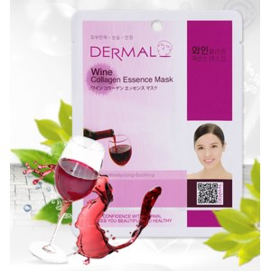 Тканевая маска для лица Dermal с экстрактом вина и коллагеном фото