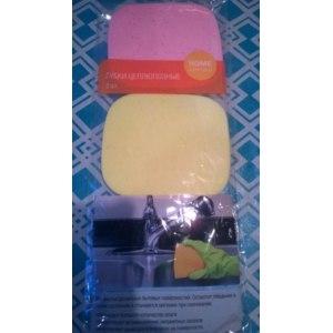 Губки для мытья посуды Home Collection Целлюлозные из Fix Price фото