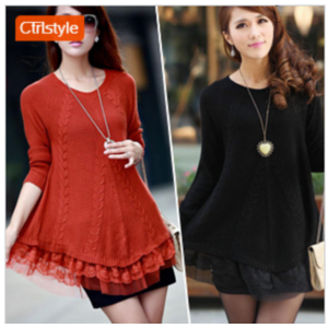 Кофта AliExpress Fashion clothes women new 2015 lace decoration loose pullover sweater basic sweater winter dress women winter clothes фото