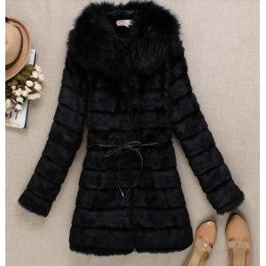 Шуба AliExpress Winter women's  faux fur medium-long  overcoat фото