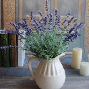 Искусственная лаванда Aliexpress Mini Green Fake Plants Artificial Bouquet Lavender Leaves Grass Wedding Home Floral Decor Flowers Arrangement  фото