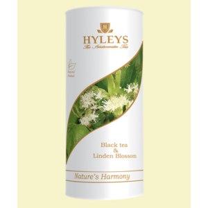 Черный чай HYLEYS байховый с цветками липы фото