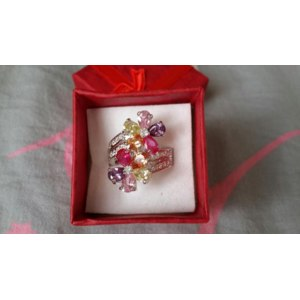 Кольцо Aliexpress Trendy-Pink-Amethyst-Morganite-Peridot-fashion-925-Silver-RING фото