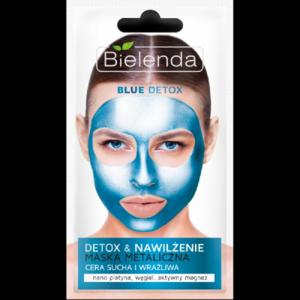 Маска для лица Bielenda Blue Detox металлическая Детокс и Увлажнение для сухой и чувствительной кожи фото