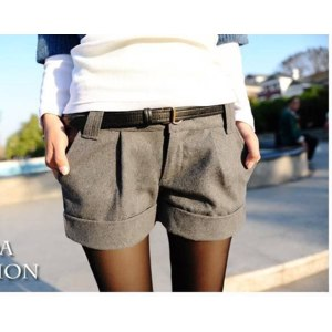 Шорты AliExpress Two Colors 2012 Autumn Winter Women's Turn-Up Straight Boot Cut Plus Large Casual Shorts S-XXL  фото