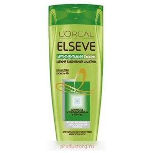 """Шампунь L'Oreal Elseve Мультивитамин """"Свежесть"""" для нормальных и склонных к жирности волос  фото"""