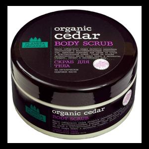Скраб для тела Planeta Organica Organic Cedar на органическом масле кедра фото