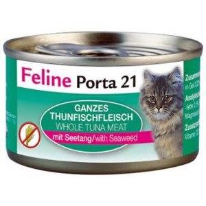 Корм для кошек Feline Porta 21 Thunfischfleisch mit Seetang - Филе тунца с морскими водорослями фото