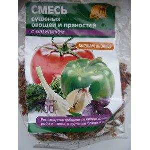 Смесь сушеных овощей и пряностей Тайны Востока с базиликом фото