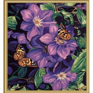 "Bandun ""Клематис и бабочки""  фото"