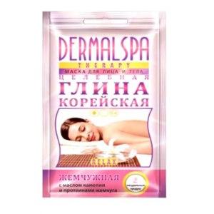 Маска для лица и тела Dermal spa therapy Целебная глина корейская, жемчужная, с маслом камелии и протеинами жемчуга фото