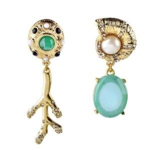 Серьги Aliexpress JOOLIM Jewelry Wholesale/Cute Stylish Attractive Snail Branches Asymmetrical Stud Earring Design Earrings Free Shipping фото