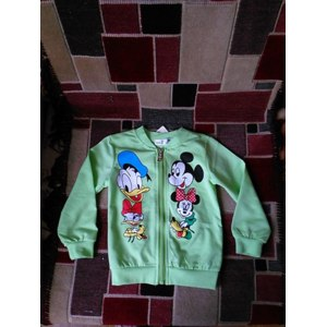 Кофта AliExpress 2015 Spring new baby girls coat Mickey minnie mouse duck zip cardigan jacket children's clothing retail Candy-colored unisex фото