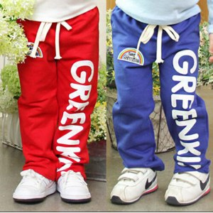 Штаны AliExpress  KC 2015 autumn letter boys clothing girls clothing baby trousers casual pants Drop saling KKZ19A03 фото