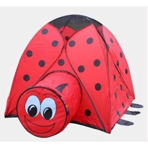 Aliexpress Children's Tent Ladybug Crawling Tent With Tunnel Baby Puzzle Toys Indoor and Outdoor Tent фото