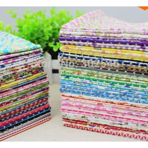 Лоскуты ткани для творчества Aliexpress Cotton Farbic No Repeat Design Flower Serier Patchwork Fabric Fat Quater Bundle Sewing For Fabric 80 PCS/lot 20*24cm Хлопок фото
