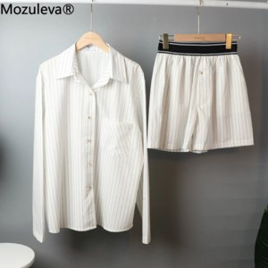 Пижама женская AliExpress Mozuleva Women's Summer Two-piece Home Suit for Spring / Autumn Thin Long-sleeved Cotton Pants Pajamas Women Autumn Cotton Suit фото