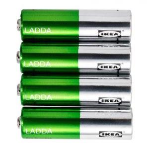 Аккумуляторы IKEA ЛАДДА тип АА 4 шт фото