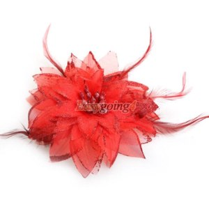 Цветок Aliexpress EA14 Belly Dance Headdress Flower Feather Hair Pin Brooch Clip for Party   фото