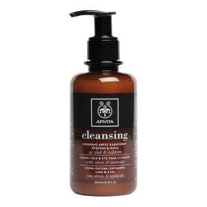 Очищающая пена для лица и контура глаз APIVITA Creamy Face & Eye Foam Cleanser with olive & lavender фото