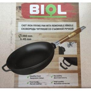 Сковорода Biol со съёмной ручкой чугунная Оптима 26 см 0126 фото