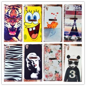 Чехол для мобильного телефона Aliexpress 22 pattern,cute tiger zebra flower cover case Lenovo S850 case cover / hard painting case Lenovo S850 case,free shipping фото