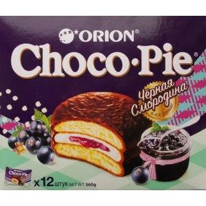 """Пирожное Orion Choco Pie """"Черная смородина"""" фото"""