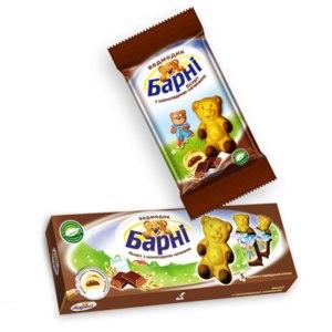 Бисквитное пирожное Медвежонок Барни С шоколадной начинкой фото