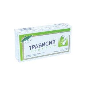 Средства д/лечения простуды и гриппа Plethico Pharmaceuticals Трависил — леденцы от кашля фото