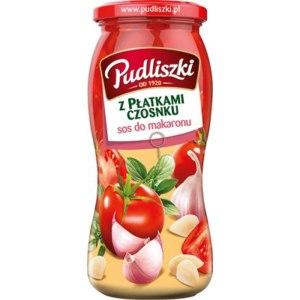 Соус Pudliszki sos do makaronu z płatkami czosnku 500 грамм фото