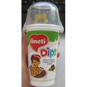 Десерт Fineti, dips Паста из фундука с какао и хлебные палочки фото