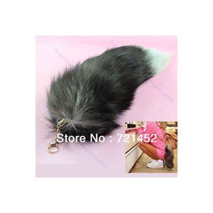 Брелок Aliexpress Free Shipping Hot Large Fox Fur Tail Keychain Tassel Bag Tag Charm Handbag Pendant Accessory фото