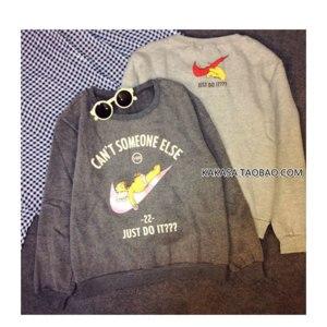 Толстовка AliExpress 2015 new plus velvet thick warm hoodie and baggy loose female cartoon print sweatshirt large size women фото