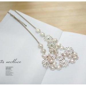 Ожерелье Aliexpress Hot sale Brand Design western style Multilayer Pendants Rhinestone gold hollow flowers necklace jewelry statement фото
