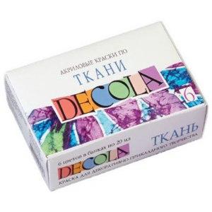 Краска акриловая по ткани «Decola» фото