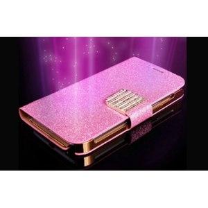 Кошелёк-чехол для телефона Aliexpress Luxury Glitter Diamond PU Wallet Leather Case For I9300 Galaxy S3 Samsung I8190 Galaxy S3 MINI Flip Buckle Stand Card Holder фото