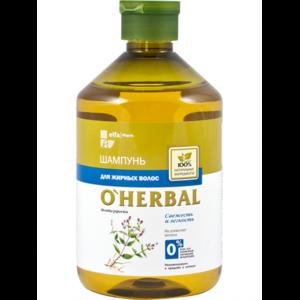 Травяной шампунь для жирных волос O'Herbal  фото