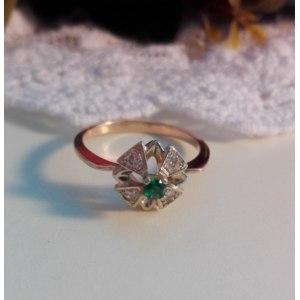Золотое кольцо Амурский Ювелирный Завод Жоржетта Артикул 239 фото