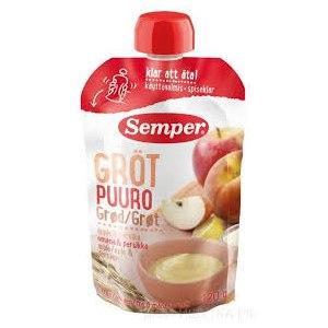 Детское питание Semper Яблочно-персиковое пюре с кашей фото