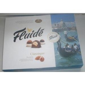 """Конфеты Orkla Brands AS набор конфет """"Fluide Classigue"""" ассорти с фундуком и миндалем в горьком и молочном шоколаде фото"""