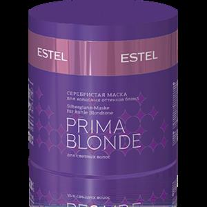 Серебристая маска для волос Estel Prima Blonde для холодных оттенков блонд фото