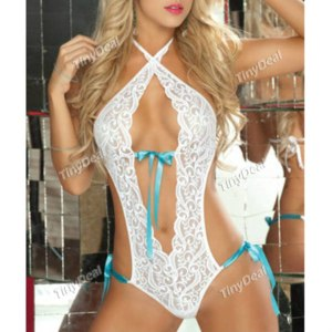 Эротическое белье TinyDeal Evening/Party Special Polyester Purity Teddies Backless Sexy Lingerie DUW - 268080 фото