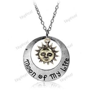 Подвеска Tinydeal Fashion Dress Punk Style. Sun and Star Necklace Neck Chain Pendant Jewerly Ornamen DJA - 320627 фото