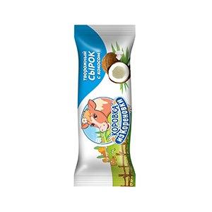 Сырок творожный глазированный Коровка из Кореновки 18% кокос фото