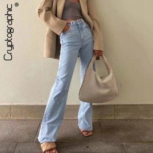 Джинсы AliExpress Cryptographic Casual Fashion Straight Leg Women's Jeans Denim Bottom Harajuku Boyfriend Long High Waist Baggy Jeans Fall Pants фото