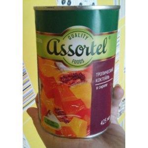 Тропический коктейль Assortel В сиропе. фото
